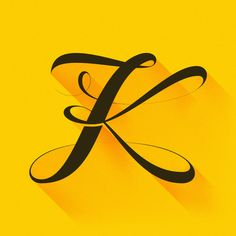 36 Days of Type (Letters) on Behance Letter K Design, Alphabet Design, Letter K Tattoo, Letter Art, Letras Tattoo, Stylish Letters, Stylish Alphabets, K Logos, Letter Photography
