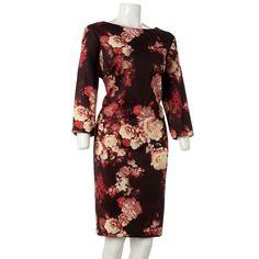 Floral Scuba Knit Midi Dress