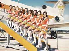 Girls' Generation's teaser photos for 'Girls & Peace' receiving attention for similarity to past airline photos