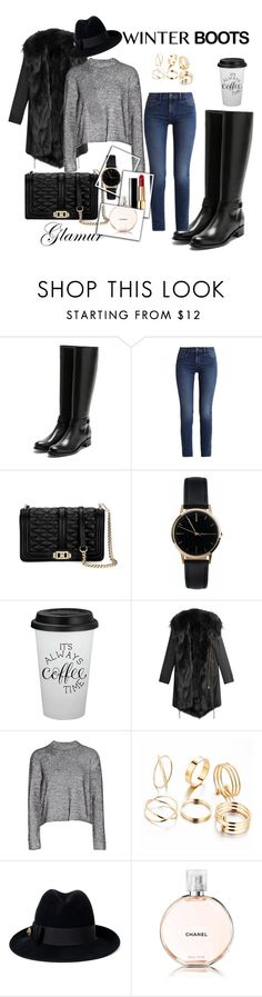 """""""winterboots"""" by fashiondesigner16 ❤ liked on Polyvore featuring Rupert Sanderson, Calvin Klein, Clover, Freedom To Exist, Barbed, T By Alexander Wang, Gucci and Chanel"""
