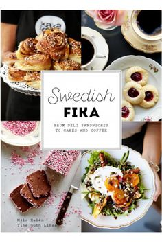 Swedish fika : from deli sandwiches to cakes and coffee A fika (Swedish for coffee snack) is so much more than seven kinds of cookies and coffee and the concept is much broader today than fifty years ago. Deli Sandwiches, Kinds Of Cookies, Sandwich Cake, Fika, Waffles, Chicken Recipes, Lunch, Snacks, Coffee