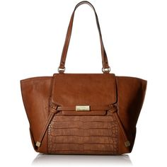 Nine West Tied and True Tote Bag (1 385 UAH) ❤ liked on Polyvore featuring bags, handbags, tote bags, nine west purses, brown handbags, brown tote, brown tote bag and nine west handbags