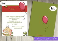 Personalized Birthday party invitations by Fairepartbedonabebe