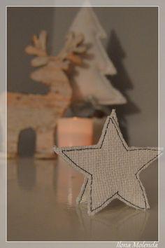 gwiazdka, Boże Narodzenie, ozdoby choinkowe z materiału, DIY