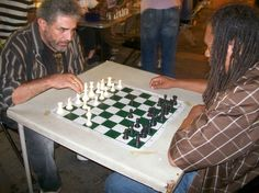 Chess game in Union Square, Manhattan, NY