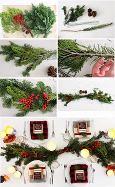 A winter holiday centrepiece + tablescape