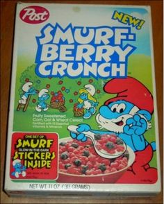 Smurf Berry Crunch - Best cereal ever! My Childhood Memories, Sweet Memories, 90s Childhood, Discontinued Food, I Remember When, 80s Kids, Oldies But Goodies, Ol Days, My Memory