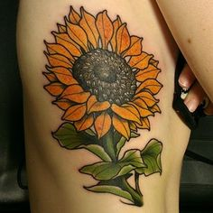 traditional sunflower tattoo - Google Search