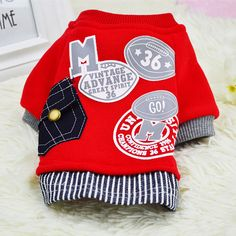 2016 New Cotton Dog Coat Sweater Cat Pet Clothes Fashion Baseball Costume Sweatshirt Uniform Clothing for Puppy Dogs Apparel 14 // FREE Shipping //     Get it here ---> https://thepetscastle.com/2016-new-cotton-dog-coat-sweater-cat-pet-clothes-fashion-baseball-costume-sweatshirt-uniform-clothing-for-puppy-dogs-apparel-14/    #pet #animals #animal #dog #cute #cats #cat