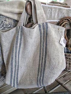 Sacs Design, Burlap Bags, Sack Bag, Boho Bags, Linen Bag, Fabric Bags, Handmade Bags, Purses And Bags, Tote Bag