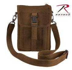 Travel Portfolio Shoulder Bag - Brown Security Bag, Cheap Crossbody Bags, Passport Wallet, Side Bags, Purses For Sale, Purse Sale, Brown Canvas, Bago, Travel Bag