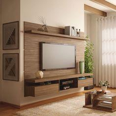 Painel para TV Livin 2.2 Macchiato Texture Alto Relevo HB Móveis