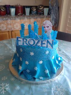 Frozen birthday cake for Khloe's 6th birthday.