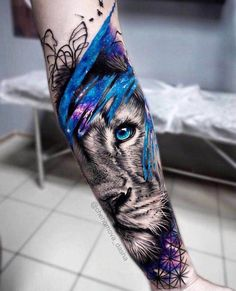 Our Website is the greatest collection of tattoos designs and artists. Find Inspirations for your next Lion Tattoo. Search for more Tattoos. Wolf Tattoos, Forearm Tattoos, Animal Tattoos, Body Art Tattoos, New Tattoos, Sleeve Tattoos, Tattoo Art, Realism Tattoo, Girl Tattoos