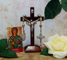 Unbreakable Catholic Chaplet of St. Anastasia - Patron Saint of Widows and Weavers by foodforthesoul on Etsy