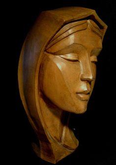 Maria.       Terracotta                         Artist     Antonio Cassio Zangarini   Sculptor , Scultore,  Escultor