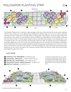 House Remodeling Is Residence Improvement Plantingebook_Pollinator_Strip Flower Garden Plans, Garden Design Plans, Garden Ideas, Planting Plan, Strip, Plantation, Plant Design, Front Yard Landscaping, Dream Garden