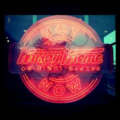 Awesome The Glow Of The #HotLight Means Hot Doughnuts Are Ready. Yum! Great Pictures