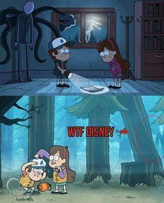 What the fuck Disney ? Libro Gravity Falls, Gravity Falls Journal, Reverse Gravity Falls, Gravity Falls Funny, Gravity Falls Anime, Gravity Falls Fan Art, Gravity Falls Comics, Gravity Falls Secrets, Fall Memes