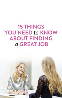 tips for finding a great job #career
