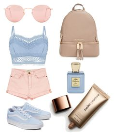 """""""Baby"""" by morganschulz on Polyvore featuring Ray-Ban, Lipsy, Current/Elliott, MICHAEL Michael Kors, Nude by Nature and Bella Bellissima"""