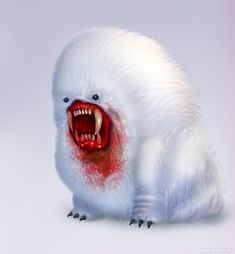 Страшное существо, картинка с зубастиком с огромными клыками — Фотографии на аву Grinch, Horror