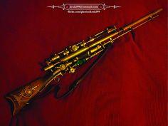 Steampunk electroplasmatic plains rifle 01 03