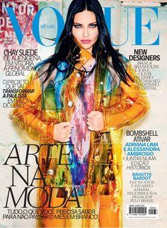Adriana Lima Lands Vogue Brazil's September 2014 Cover in Miu Miu
