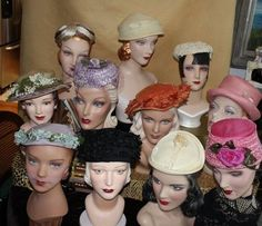 I love vintage hats. Have 30-60's hats you don't want? Feel free to send them to Barbe and I'll give them a very good home ♥
