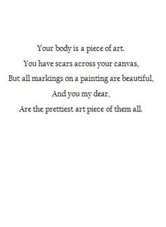 our body is a piece of art