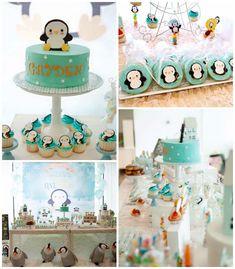 Winter ONEderland Penguin 1st Birthday Party via Kara's Party Ideas | http://KarasPartyIdeas.com (2)