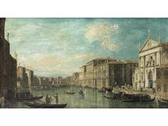 This church - whose main facade was reconstructed  by Domenico Rossi in 1709 - is where Russell married Grace. The image is a painting by Bernardo Belloto, showing the Grand Canal with the Church of San Stae in the foreground on the right.