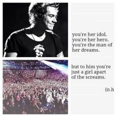 Khurana Singh Styles sadly its true. I'll be just another face in the crowd. Just another directioner there. Just another girl. One Direction Drawings, One Direction Harry, Harry Styles Cute, Harry Edward Styles, I Love Him, Love You, My Love, Harry Styles Imagines, Louis And Harry