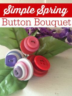 Spring has sprung and this adorable craft is perfect for celebrating warmer temperatures! Make this Simple Spring Button Bouquet to brighten up your home on a budget!