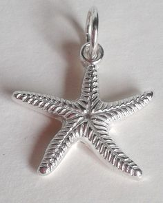 Starfish Pendant, Solid Silver Starfish Charm, Handmade Solid Silver Pendant with Stunning Sterling Silver Necklace, UK Seller. by Silverre on Etsy