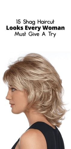 15 Shag Haircut Looks Every Woman Must Give A Try Bored with regular and common haircuts? Want to opt for the trendiest Haircut? Here is all you need to know about the shag haircut. Medium Shag Hairstyles, Medium Shag Haircuts, Shaggy Haircuts, Haircuts For Fine Hair, Haircut For Thick Hair, Short Layered Hairstyles, Layered Haircuts For Women, Thin Hair, Medium Layered Hair