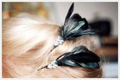 Hair Clips : Feather Hair Pin DIY