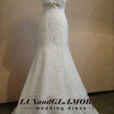 Wedding dress,lace mermaid sweetheart wedding dress, lace bridal dress