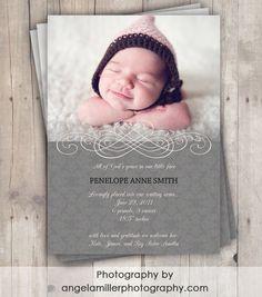 Adoption Birth Announcement
