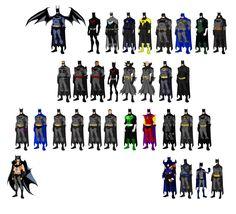 Batmen, based on Phil Bourassa's work by Majinlordx.deviantart.com on @DeviantArt