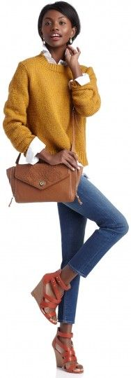 Shop The Look: Sole Society Mustard + Denim + Wedges