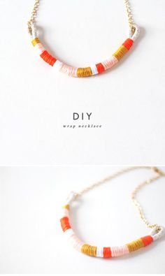 Quick and easy Thread-Wrapped Necklace.