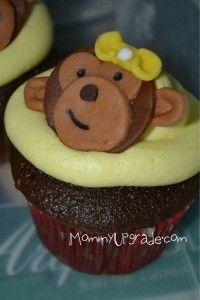 Easy peasy monkey cupcakes