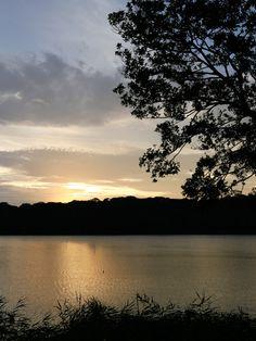 Lake Sanaru, Hamamatsu-city, Japan. 佐鳴湖 大暑の夕日 Sunset of midsummer day