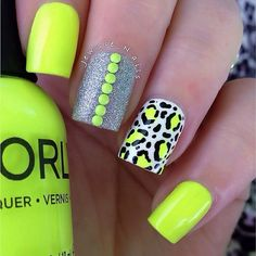 Get to know how to paint Leopard Nail Art designs! Leopard prints are a trend nowadays. From clothes to shoes to bags and even to nail art designs, they Leopard Nail Art, Neon Nail Art, Neon Nail Polish, Leopard Print Nails, Neon Nails, Leopard Prints, Bright Nails, Nail Polishes, Diy Nails