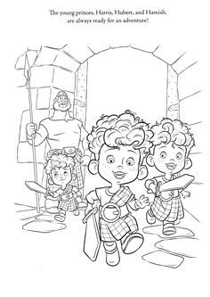 Print Out Brave Harris Hubert And Hamish Coloring Pages
