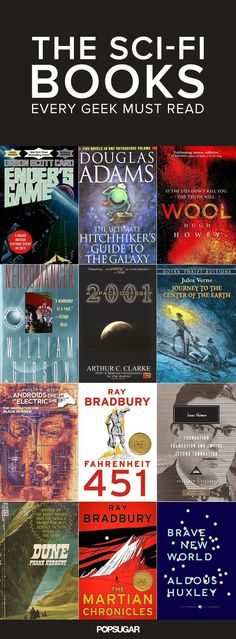 January is National Science Fiction Day. The Sci-Fi Classics You Need to Read Before You Die Books And Tea, I Love Books, Great Books, My Books, Good Sci Fi Books, Library Books, Reading Lists, Book Lists, Reading Books