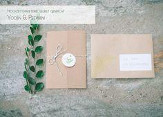 DIY Hochzeitseinladung mit Stempel