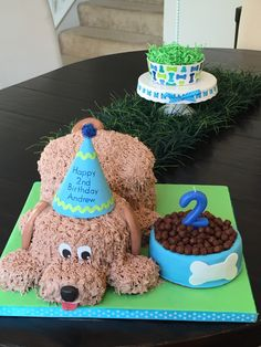 first birthday party ideas boys Puppy Birthday Cakes, Puppy Birthday Parties, Themed Birthday Cakes, Puppy Party, Dog Birthday, Themed Cakes, Birthday Party Themes, Birthday Ideas, Dog Themed Parties