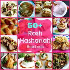 50+ Rosh Hashanah Recipes ~  Recipes for Appetizers, Breads, Soups and Stews, Main Dishes, Side Dishes, Salads, Desserts and Beverages!  Recipe Links @: http://whatjewwannaeat.com/rosh-hashanah-recipes/